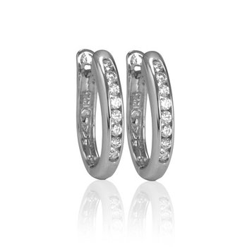 14kt white gold diamond hoops 0.35ct. Available at our Halifax store