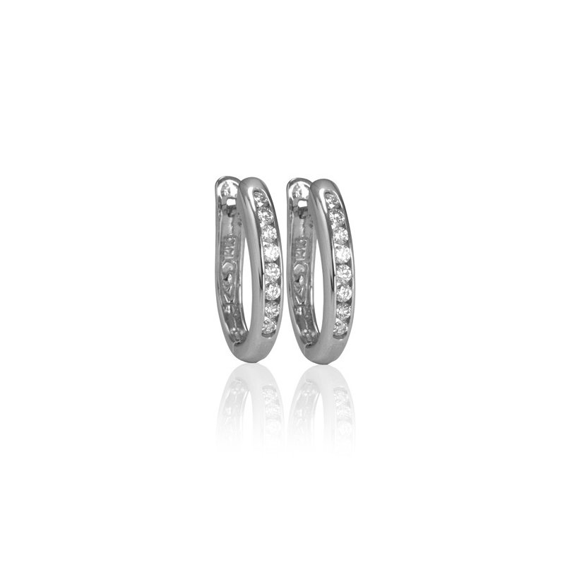 Max Strauss 14kt white gold diamond hoops 0.35ct. Available at our Halifax store
