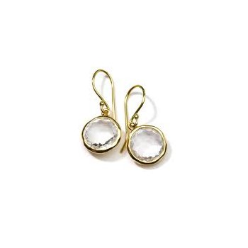 Ipploita 18kt Lollipop mini drop earring in clear quartz. Available at our Halifax store.