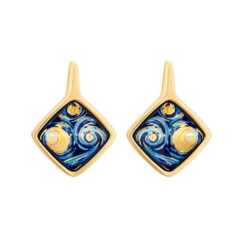 FreyWille Van Gogh starry night carre earrings. Available at our Halifax store.