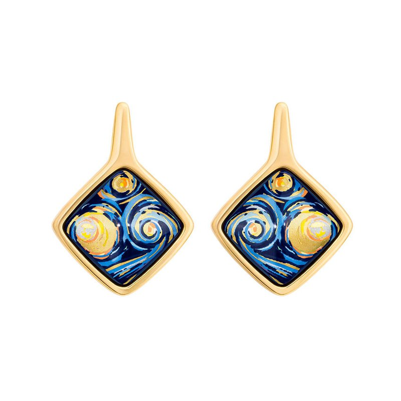 Freywille FreyWille Van Gogh starry night carre earrings. Available at our Halifax store.