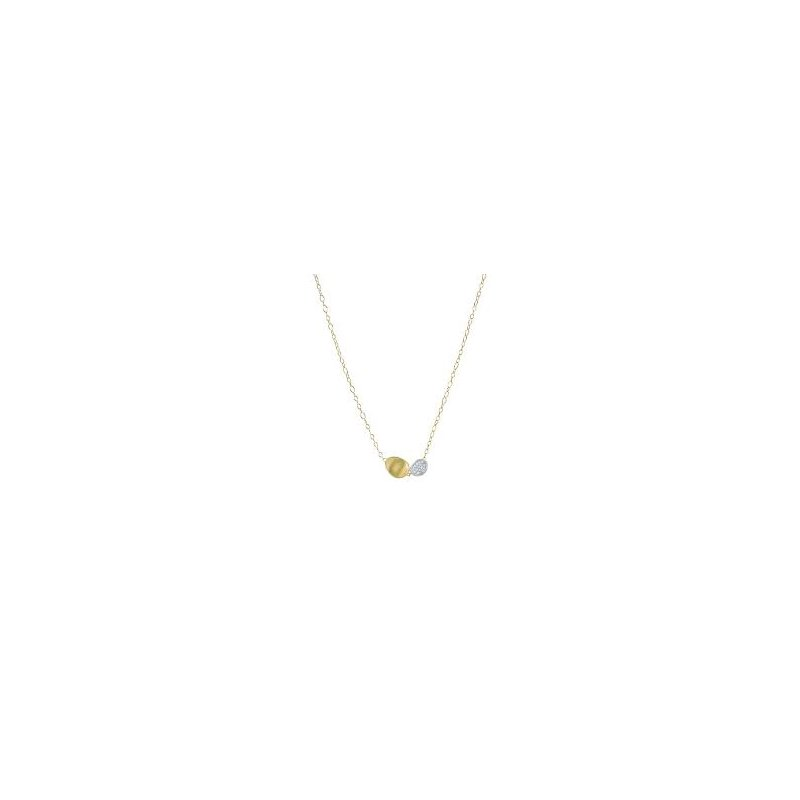 Marco Bicego Marco Bicego 18kt Lunaria necklace 0.20ct diamonds. Available at our Halifax store