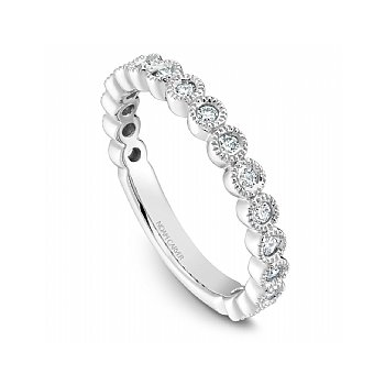 Noam Carver 14Kt white gold Stackable Diamond Band, 17 Dia =0.33Ct Si/Gh