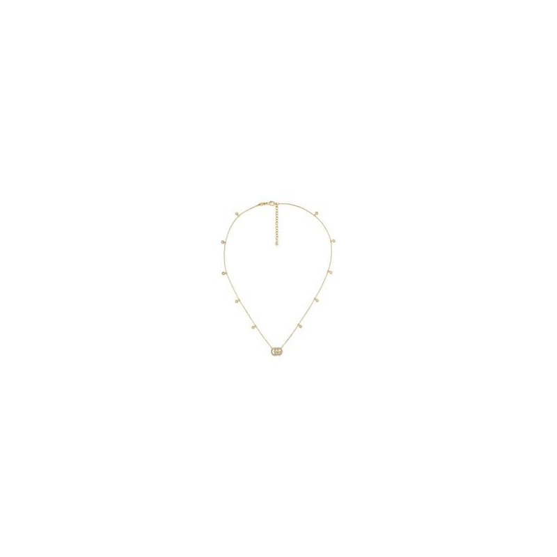 Gucci Gucci 18kt Running G necklace, M, 42cm, 0.22ct diamonds. Available at our Halifax store.