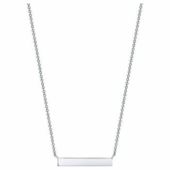 Birks Les Plaisirs Sterling Silver Horizontal Bar Necklace