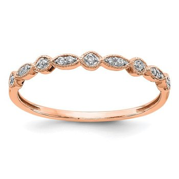 14k Rose Gold Diamond Fancy Band