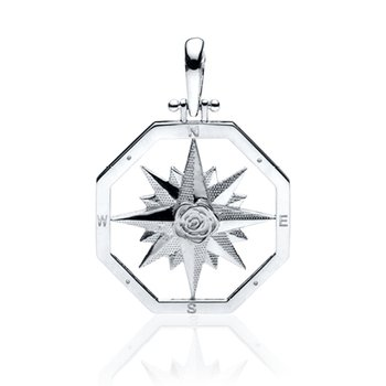 Large Compass Rose pendant