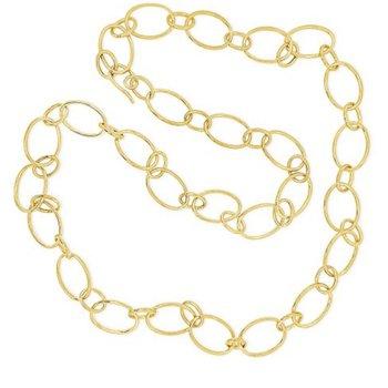 14K Long Oval Link Necklace