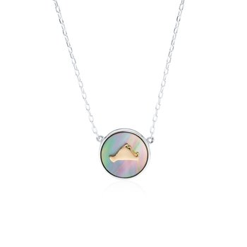 Vineyard Colors Necklace in sterling silver and 14k gold