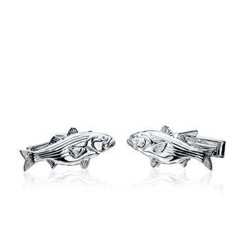 Striped Bass cufflinks