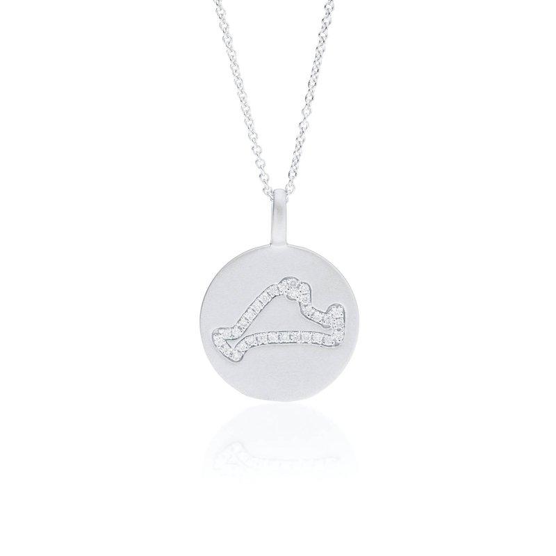 Diamond Martha's Vineyard Medallion necklace