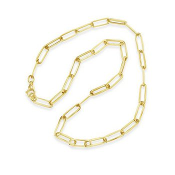14K Paperclip Link Necklace