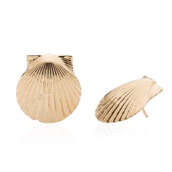 Chilmark Scallop Shell large earrings