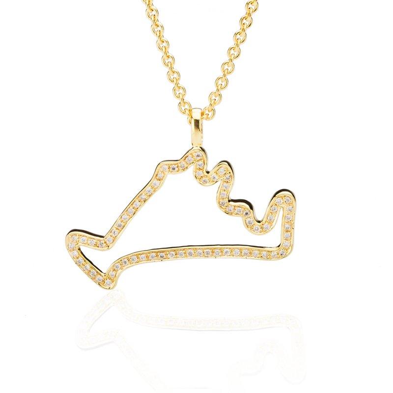 Diamond Martha's Vineyard Outline necklace