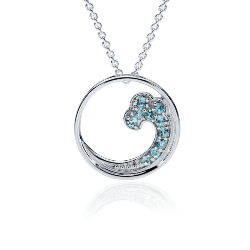 Blue Topaz Wave pendant