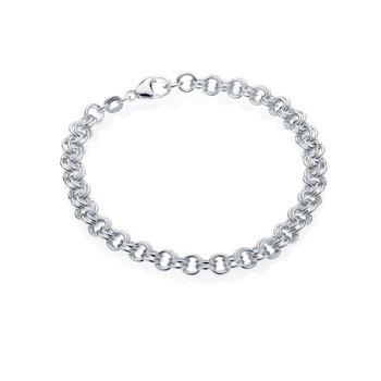 Mini Double Link charm bracelet