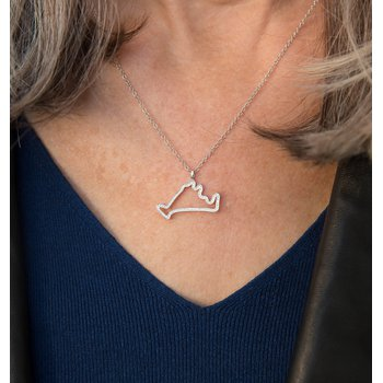 Diamond Martha's Vineyard Outline necklace