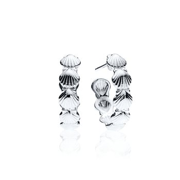 Scallop Shell hoop earrings