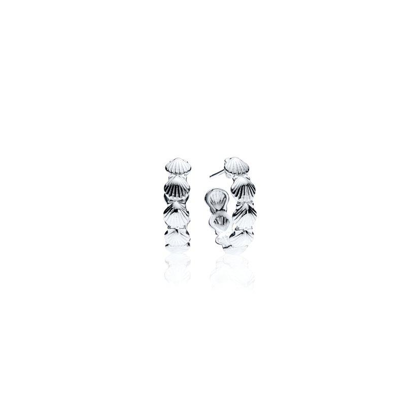 Scallop Shell hoop earrings