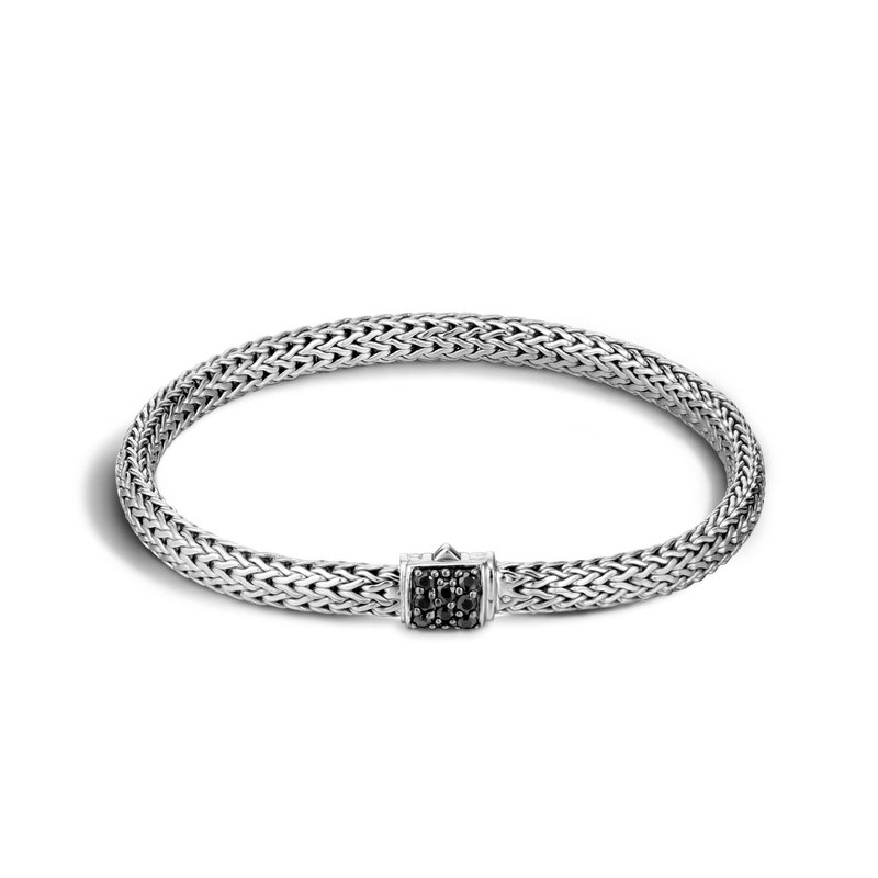 John Hardy Classic extra-small chain bracelet with Black Sapphires