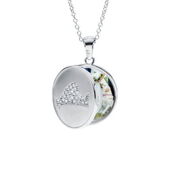 Martha's Vineyard Locket with Cubic Zirconia