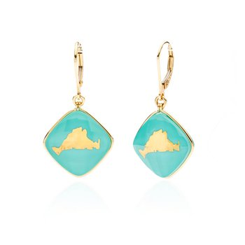 Martha's Vineyard turquoise layered earrings