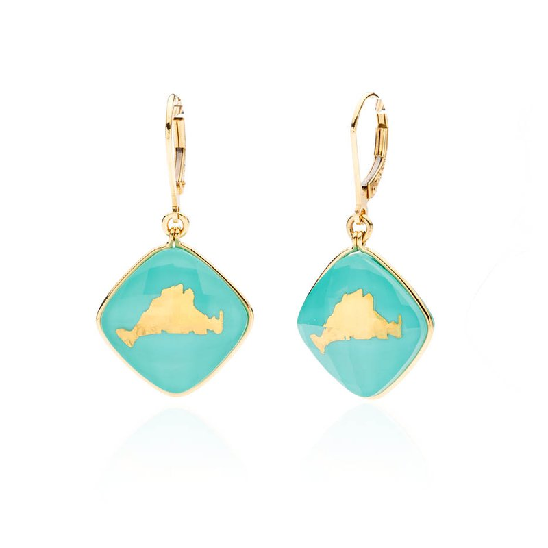 Martha's Vineyard turquoise layered earrings