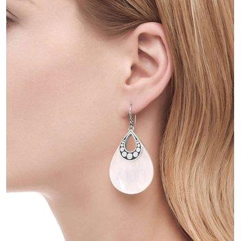 John Hardy White Mother of Pearl Dot Drop earrings