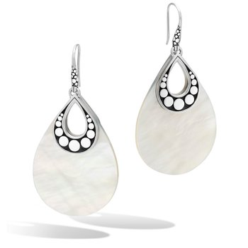 John Hardy White Mother of Pearl Dot Drop earrings