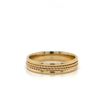 Double Rope Wedding Band