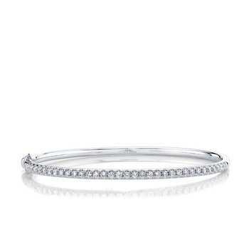 Diamond Eternal Hinged Bangle Bracelet