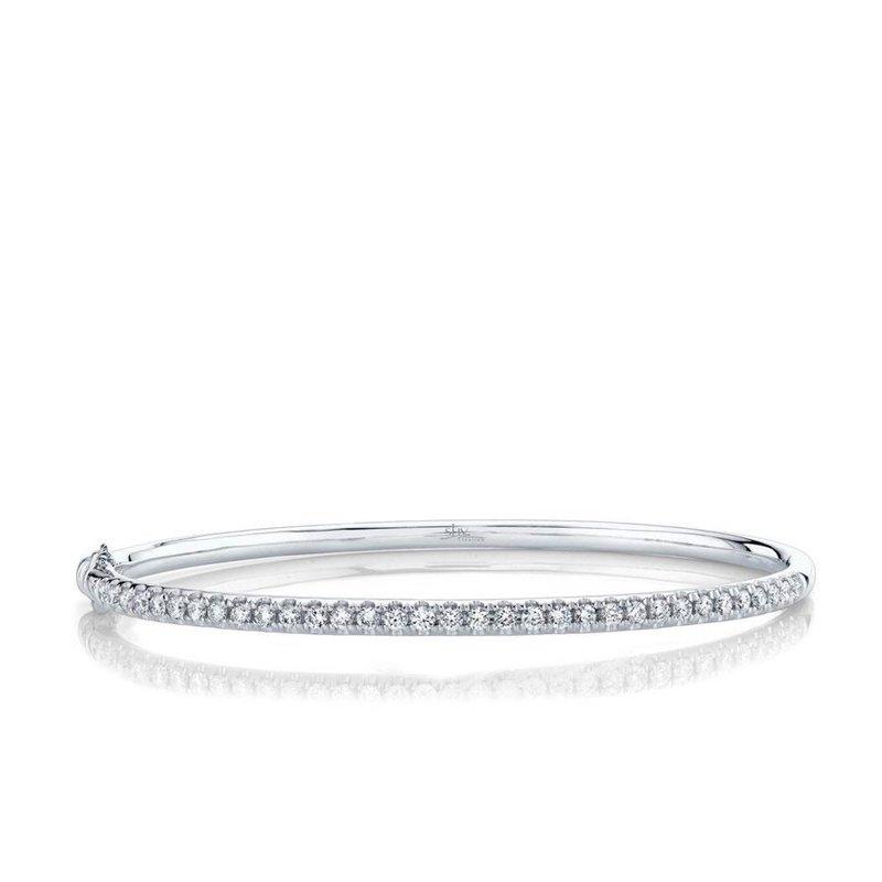 Diamond Eternal Hinged Bangle Bracelet