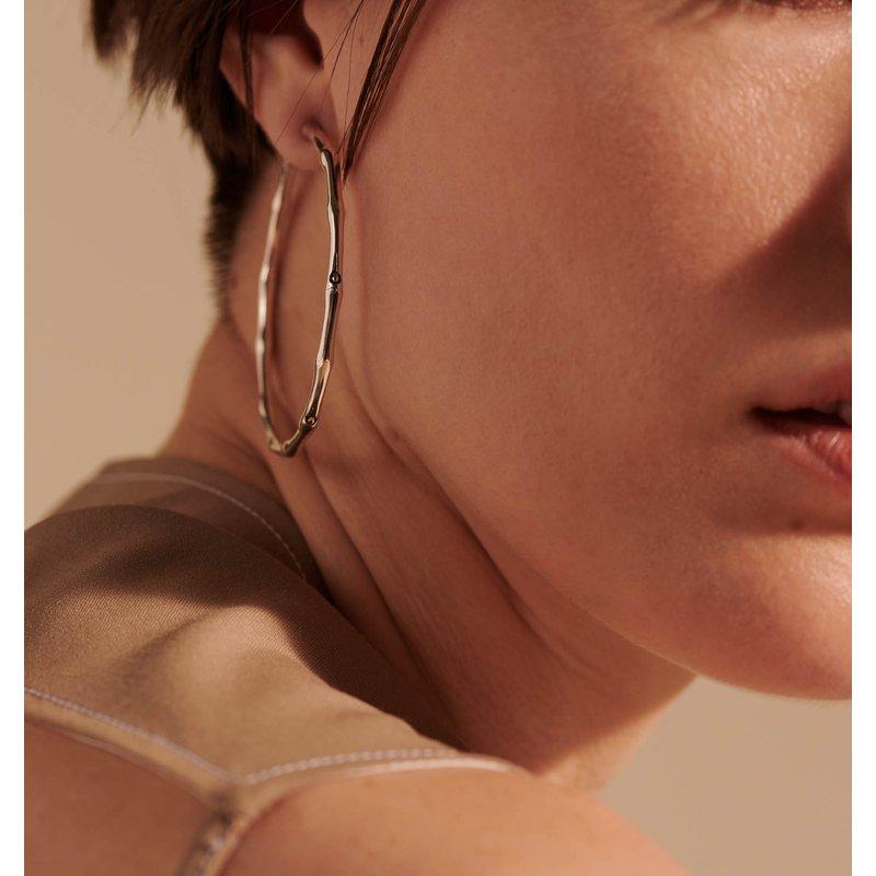 John Hardy Bamboo large hoop earrings