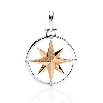 Large Round Compass Rose pendant