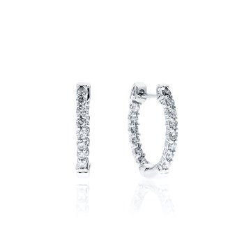 Diamond Inside Out Hinged earrings