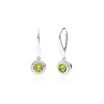 Rigging Collection Peridot Drop earrings