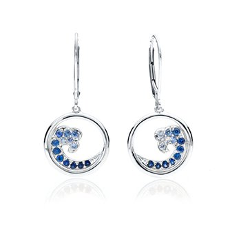 Sapphire Wave earrings