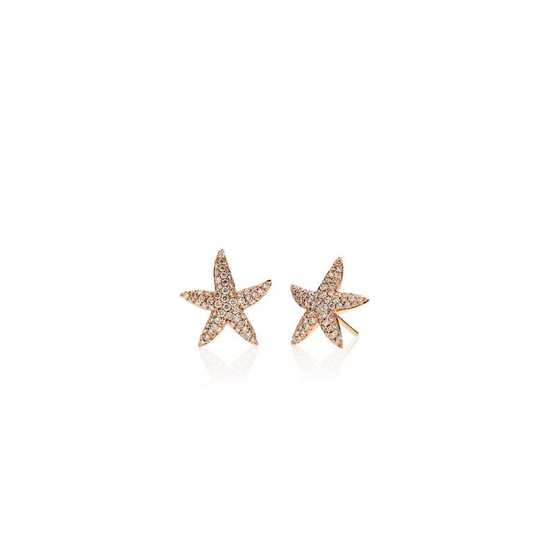 Pave Diamond Starfish earrings