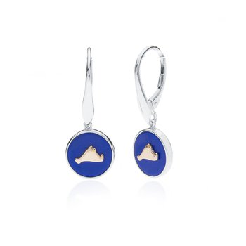 Vineyard Colors earrings in sterling silver and 14k gold