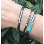 "Lika Behar ""Stockholm"" Oxidized Silver Diamond Cuff Bracelet"