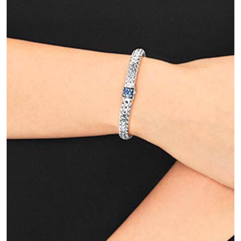 John Hardy Classic Small chain bracelet with Sapphires
