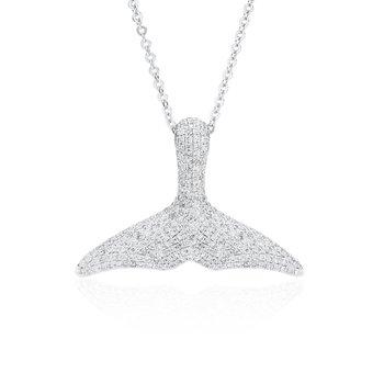 Whale's Tail Diamond Pave necklace