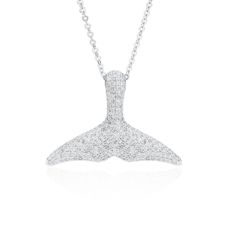 Whale's Tail Diamond Pave necklace