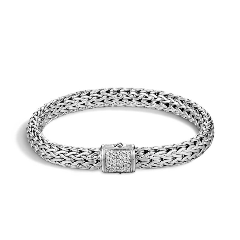 John Hardy Classic medium chain bracelet with Diamonds
