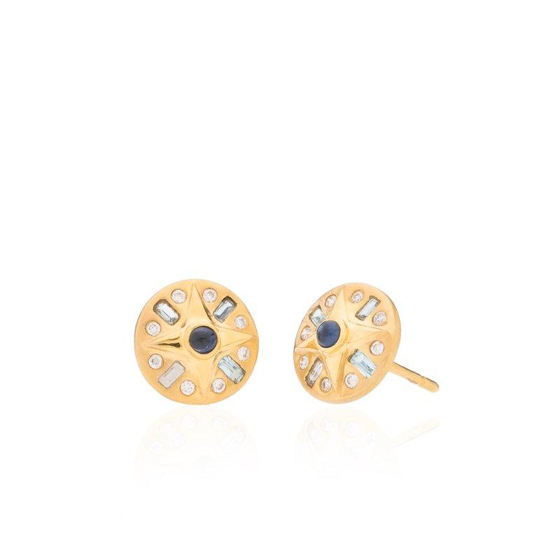 Compass Earrings by Theresa Kaz