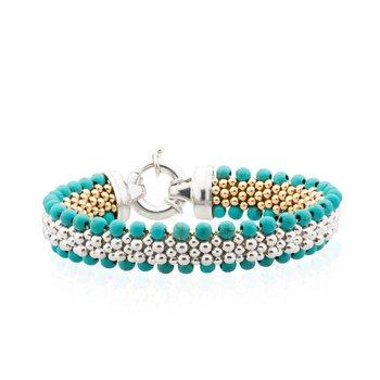 Dovera Reversible Turquoise Woven bracelet