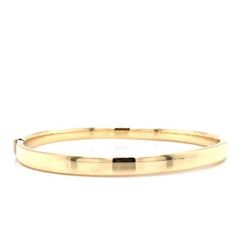 14K Square Hinged Bangle Bracelet