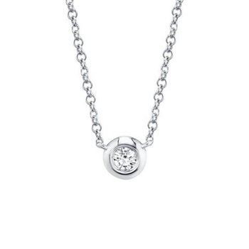 Diamond Bezel Set Necklace
