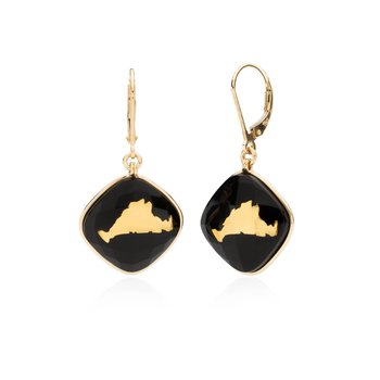 Martha's Vineyard onyx layered earrings
