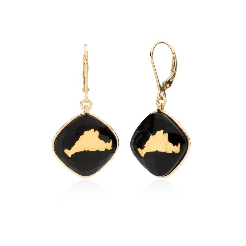 Martha's Vineyard onyx layered earrings
